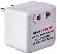 NORSTAR GS-50D 50 Watt Step Down International Travel Converter 110-240 VOLTS