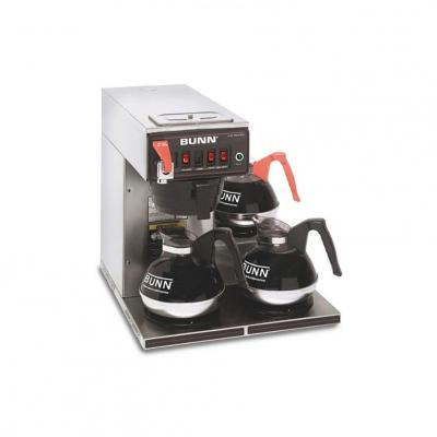 BUNN CWTF15 12 Cup Automatic Commercial Coffee Maker with 3 Warmers 110 VOLTS
