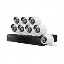 WISENET B84084BF ALL-IN-ONE 8 CHANNEL SUPER HD SECURITY SYSTEM 8 4MP BULLET CAMERAS 220 VOLTS