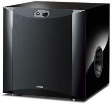 Yamaha NS-SW300 Front Firing Subwoofer with Patented Twisted Flare Port Port Tube piano-lacquer black 220-240 Volts NOT FOR USA