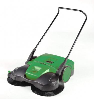Bissell BG697 Big Green Commercial Battery Powered Triple Brush Push Power Sweeper, 13.2 gal Green 110 volts ONLY FOR USA