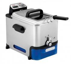 Tefal FR8040 Oleoclean Pro Inox - Design Deep Fryer - silver blue 220-240 Volts NOT FOR USA
