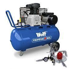 Wolf Dakota 90 Litre, 3HP, 14CFM, 240v, MWP 150psi, 10BAR Twin Cylinder Pump Belt Driven 220 VOLTS NOT FOR USA