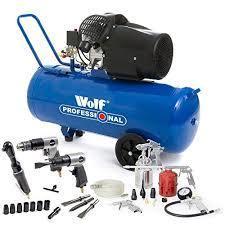 Wolf Dakota 90 Litre, 3HP, 14CFM, 240v, MWP 150psi, 10BAR Air Pump 220 VOLTS NOT FOR USA