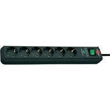Brennenstuhl Eco-Line 1159700015 Surge Protection Socket Strip, 6-Way, 220 VOLTS NOT FOR USA