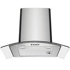 Ciarra CBCS9506B 90 cm Curved Glass Stainless Steel Chimney Cooker Hood 220 VOLTS NOT FOR USA