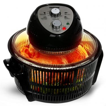 Geepas Turbo Halogen Oven 12 litres & Accessories 1400W Convection Air Fryer Cooker 220 Volts (NOT FOR USA)