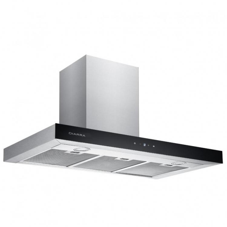 Ciarra Cbcs9102 90 Cm Stainless Steel Touch Chimney Cooker Hood Extractor Fan 220 Volts N