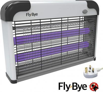 Fly-Bye - Insect Killer 20W UV Light  2800v Killing Mesh Grid, 220VOLT (NOT FOR USA)