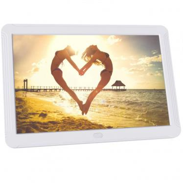 Digital Photo Frame 8 Inch, 1920x1080 IPS Screen Digital Picture Frame Music, Adjustable Brightness, Breakpoint Play, Remote Control, 220VOLT, (NOT FOR USA)