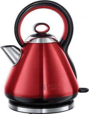 Russell Hobbs 21885 Legacy Quiet Boil Electric Kettle Red 1.7 Liter 3000W 220VOLT(NOT FOR USA)