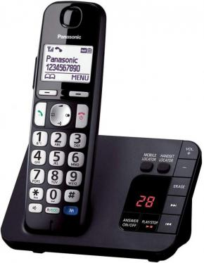 Panasonic KX-TGE720EB Cordless Telephone & Digital Answering Machine Single Handset 220 volts NOT FOR USA
