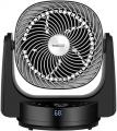 Geek Aire Fan, Air Circulator 3D Oscillating Floor Fan, High Velocity Table Fan with 4 Speeds, 6h Timer, AI Mode, Cooling Fan Compatible with Alexa, Google, App and Remote Control, Black