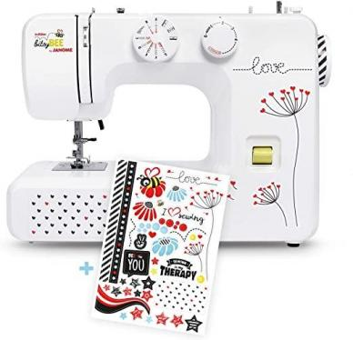 Janome 62506 beginner sewing machine kullaloo bitsyBEE cool stickers included 220 VOLTS NOT FOR USA