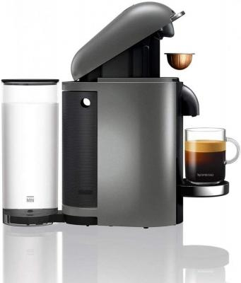 Nespresso, XN902T40 Pod Coffee Machine, Krups, Vertuo Bundle, Titanium 220 VOLTS NOT FOR USA