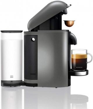 Nespresso, XN902T40 Pod Coffee Machine, Krups, Vertuo Bundle, Titanium 220 VOLTS NOT FOR USA