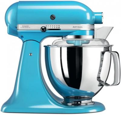 KitchenAid Artisan 5KSM175PSECL 5 Qt. Stand Mixer (Crystal Blue) with TWO Bowls & Flex Edge Beater 220 VOLTS NOT FOR USA