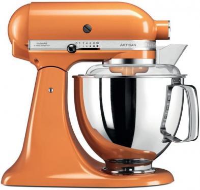 KitchenAid Artisan 5KSM175PSETG 5 Qt. Stand Mixer (Tangerine) with TWO Bowls & Flex Edge Beater 220 VOLTS NOT FOR USA