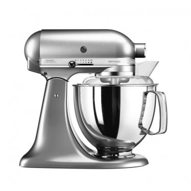 KitchenAid Artisan 5KSM175PSENK 5 Qt. Stand Mixer (Brushed Nickel) with TWO Bowls & Flex Edge Beater 220 VOLTS NOT FOR USA