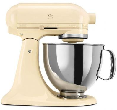 KitchenAid 5KSM175PSEAC 5 QT. STAND MIXER (Almond Cream) WITH TWO BOWLS 220 VOLTS NOT FOR USA
