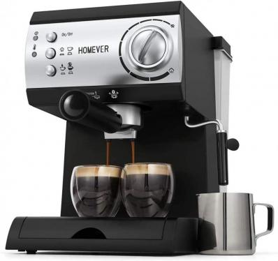 Traditional Pump Espresso Coffee Machine with Milk Steamer 220 VOLTS NOT FOR USA
