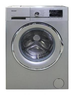 Sharp ES-FS814CX-S 220 volts Washer 8Kg Silver color 220v 240 volt 50 hz front load washer 220-240 VOLTS NOT FOR USA