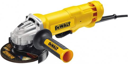 DeWalt DWE4233-QS grinder Ø 125 mm, 1400 W, cable paddle switch, idle speed 11500 rpm, M14, vibration protection and side handle with multiple positions [Energy Class A]  220-240 VOLTS NOT FOR USA