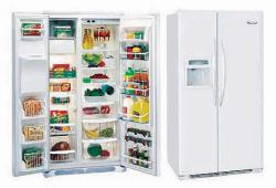 FRIGIDAIRE GLVC25V7GW/FW (WHITE) Side by Side Refrigerator with 220-240 volt