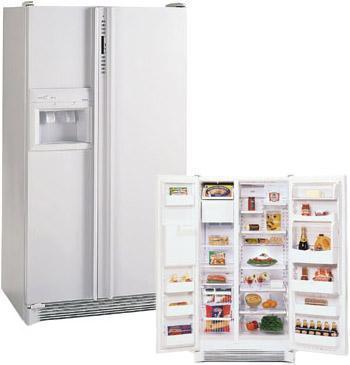 Amana 28CFT SRDE528VW Side-by-Side Refrigerator for 220/240 Volts.