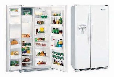 Frigidaire 22.6 CFT FRSF25V4AW/FRS25V5CW  Side By Side Refrigerator for 220-240 volts