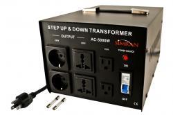 TC-5000W Universal Socket 5000 WATTS STEP UP STEP DOWN VOLTAGE TRANSFORMER