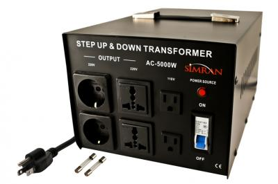 TC-5000W Universal Socket 5000 WATTS STEP UP STEP DOWN VOLTAGE TRANSFORMER
