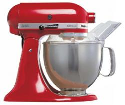 KitchenAid 5KSM150PSE Artisan (RED) FOR 220 VOLTS