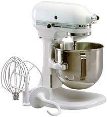 kitchenaid 5k5sswh heavy duty lift bowl mixer white 220v appliances 110 220 240v. Black Bedroom Furniture Sets. Home Design Ideas