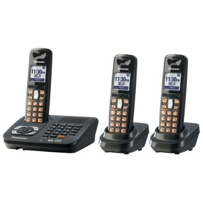 Panasonic KX-TG6443T cordless phone for 110-220 volts world wide use.
