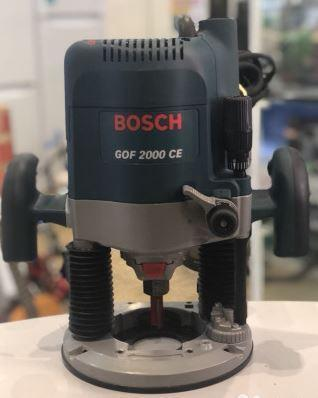 Bosch GOF2000CE 240 Volt Router with Maximum router cage stroke: