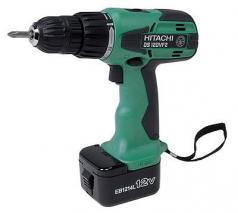 Hitachi DS12DVF2 12 Volt Cordless Screw Drill Kit with Flashlight 220-240 Volt, 50 Hz