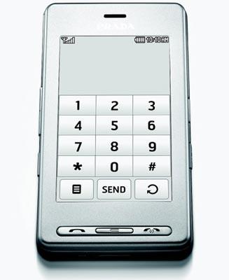 LG KE850 Unlocked Triband Prada Silver Phone