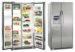 Frigidaire FRRC25V8GM 22.6 cu. ft Premium Silver Side By Side Refrigerator 220-240 Volts