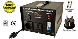 TC-1500W Universal Socket 1500 WATTS STEP UP STEP DOWN VOLTAGE TRANSFORMER