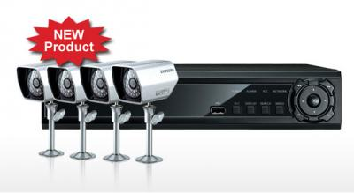 Samsung CCTV SDE-3000N 4CH DVR & 4 Night Vision Cameras (New)