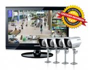 Samsung SCA-P4801N - 8 Channel Complete Security Camera System with 4 Soltech Dome Cameras 110-220 volts
