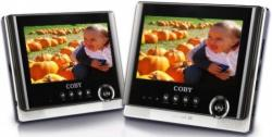 Coby TF-DVD7752 7 INCH Dual Screen code free portable DVD player