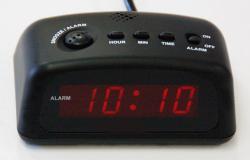 Q&Q D005 LED Digital Alarm Clock 220-240Volt 50Hz