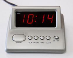 Q&Q D006 LED Digital Alarm Clock  220-240Volt