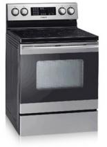 """Samsung FTQ352IWUX - 30"""" Freestanding Electric Range Stainless Steel, Factory Refurbished (FOR USA )"""