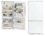 Whirlpool WGB6525PEAW 23 cu.ft. Bottom Mount Refrigerator 220 volts