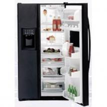 GE PCE23TGXF BB Black Side by Side Refrigerator for 220/240 Volts (special order)
