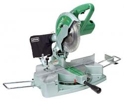 Hitachi C10 FCB Miter Saw with cross cuts either material in a single operation 230 Volt