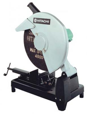 "Hitachi CC16SA 220-240 Volt, 50Hz 16"" Cut-Off Saw with 45 Deg. adjustable angle vises,"